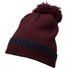 French Connection Plain Beanie Marine/Bordeaux