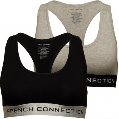 French Connection Crop Light Grey/Black