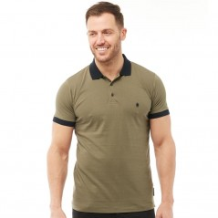 French Connection Contrast Polo Khaki/Marine
