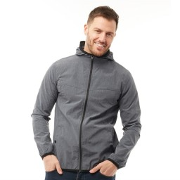 French Connection Printed Windrunner Charcoal Grey
