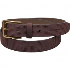 French Connection Perforated Leather Dark Brown