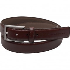 French Connection Brushed Nickel Buckle Leather Brown