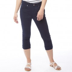 Onfire Cropped Twill Navy