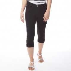 Onfire Cropped Twill Black