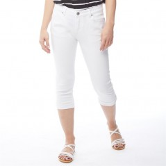 Onfire Cropped Twill White