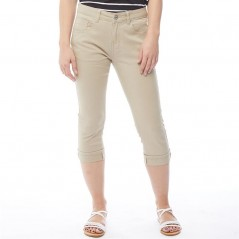 Onfire Cropped Twill Stone