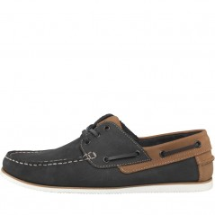 Onfire Leather Navy/Tan
