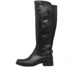 Onfire Knee Length Leather Black