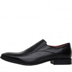 Onfire Leather Slip On Black