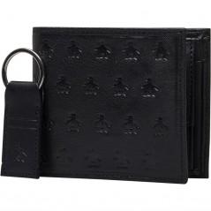 Original Penguin & Key Ring Set Black