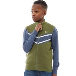 Original Penguin Junior Colour Block SweatBronze Green