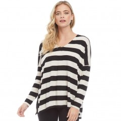 Only Maye V-Striped Black/Hazelnut Melange