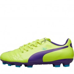 Puma Junior evoPOWER 4 AG Fluorescent Yellow/Prism Violet/Scuba Blue