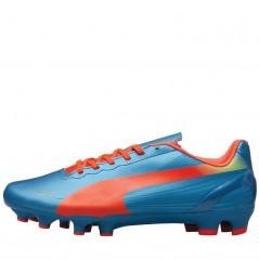 Puma Junior evoSPEED 4.2 FG Sharks Blue/Peach/Yellow