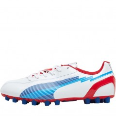 Puma Junior evoSPEED 5 AG White/Red/Blue