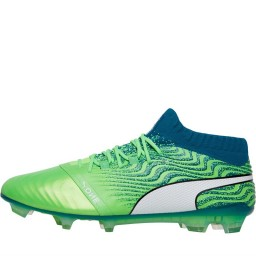 Puma One 18.1 FG Green Gecko/Puma White/Deep Lagoon