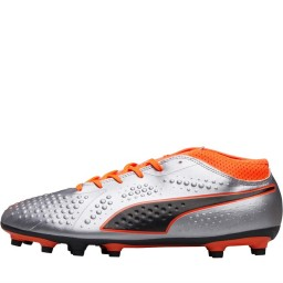Puma One 4 Syn FG Puma Silver/Shocking Orange/Puma Black