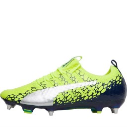 Puma evoPOWER Vigor 1 MX SG Safety Yellow/Silver/Blue Depths