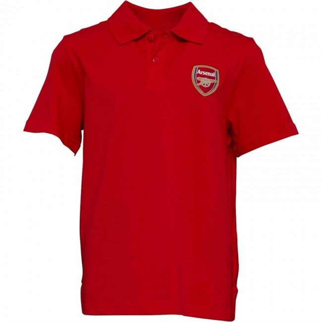 Puma Junior AFC Arsenal Royal Crest Polo High Risk Red