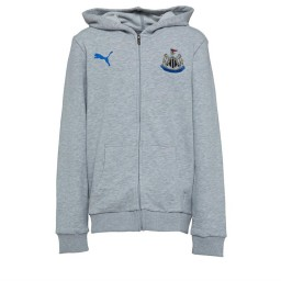 Puma Junior NUFC Newcastle United Fan Hoodie Light Grey Heather