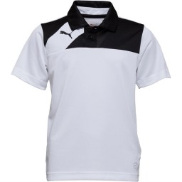 Puma Junior Esquadra Leisure Polo White/Black