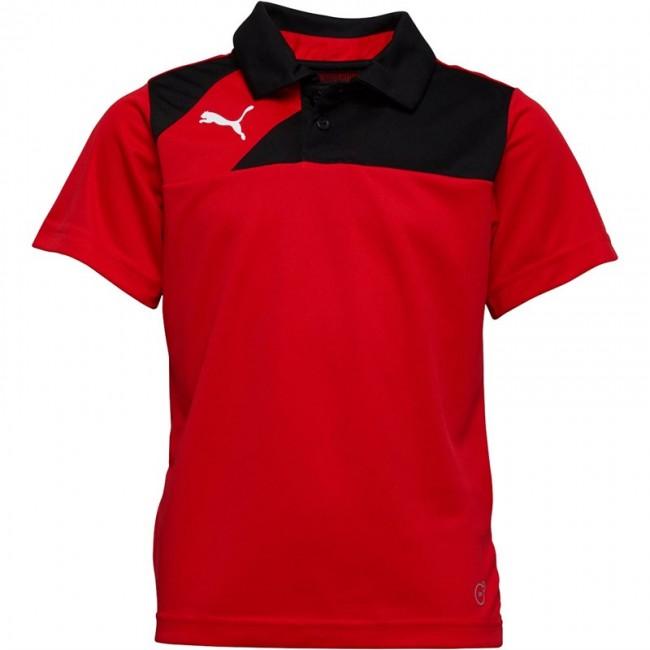 Puma Junior Esquadra Leisure Polo Red/Black