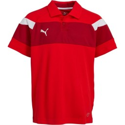 Puma Junior Spirit II Leisure Polo Red/White