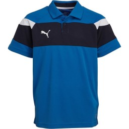 Puma Junior Spirit II Leisure Polo Royal/White