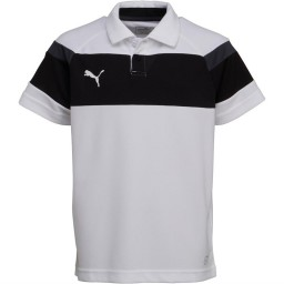 Puma Junior Spirit II Leisure Polo White/Black