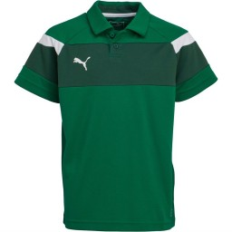Puma Junior Spirit II Leisure Polo Green/White