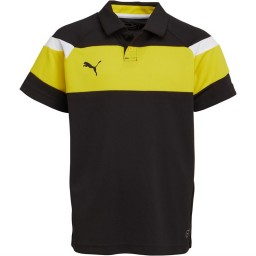 Puma Junior Spirit II Leisure Polo Black/Yellow