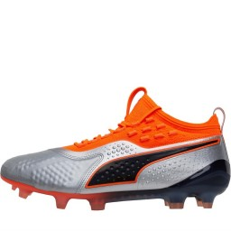 Puma One 1 Leather FG/AG Puma Silver/Shocking Orange/Puma Black