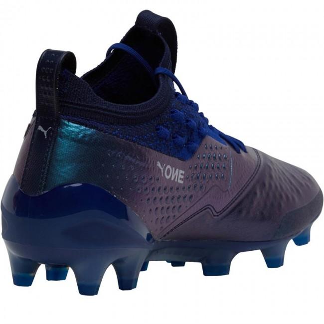 Puma One 1 Leather FG/AG Sodalite Blue/Puma Silver/Peacoat