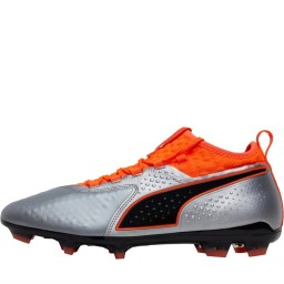 Puma One 2 Leather FG Puma Silver/Shocking Orange/Puma Black