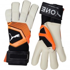 Puma One Grip 1 Hybrid Pro White/Shocking Orange/Black/Silver