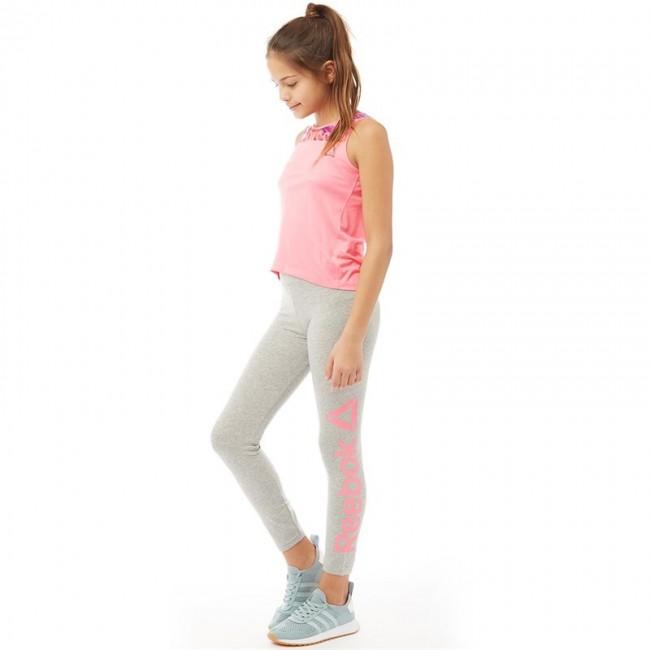 Reebok Junior Essentials BL Leggings Medium Grey Heather