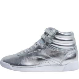 Reebok Classics Freestyle Hi Metallic Silver Metallic/Steel/White