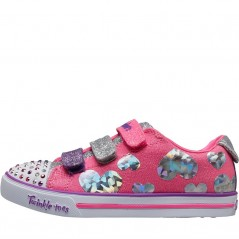 SKECHERS Twinkle Toes Sparkle Lite Flutter Fab Pink
