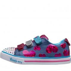 SKECHERS Twinkle Toes Sparkle Lite Flutter Fab Blue
