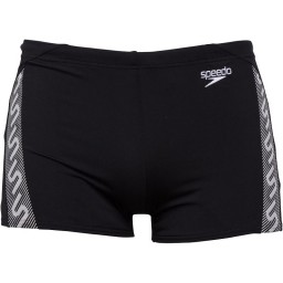 Speedo Monogram Aqua Black/White