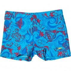 Speedo Seasquad All-Over Aqua Blue/Red