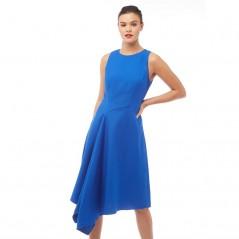 Ted Baker Arola Textured Draped Asymmetric Mid Blue