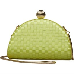 Ted Baker Kyla Weave Bobble Detail Clutch Mid Green