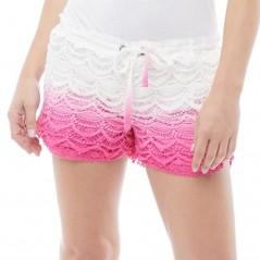 Urban Beach Dip Dye Avalon Deco Hot Pink/White