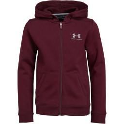 Under Armour Junior Full Hoodie Red