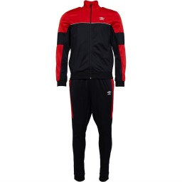 Umbro Active Style Tricot TrackBlack/Scarlet Red