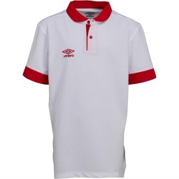 Umbro Junior Trophy Match Jersey White/Vermillion