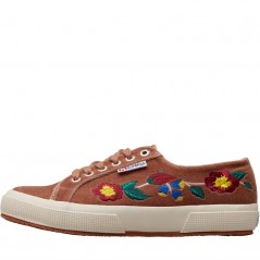 Superga 2750 Embroidered Velvet Pink Blush