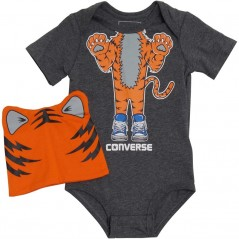 Converse Baby Creature Creeper Set Charcoal Grey Heather