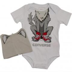 Converse Baby Creature Creeper Set White